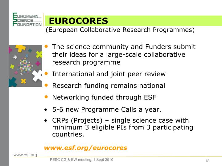 The science community and Funders submit their ideas for a large-scale collaborative research programme