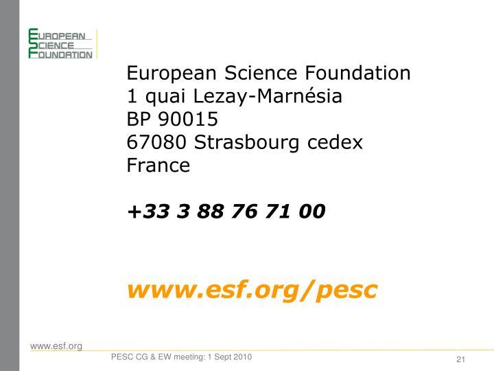 European Science Foundation