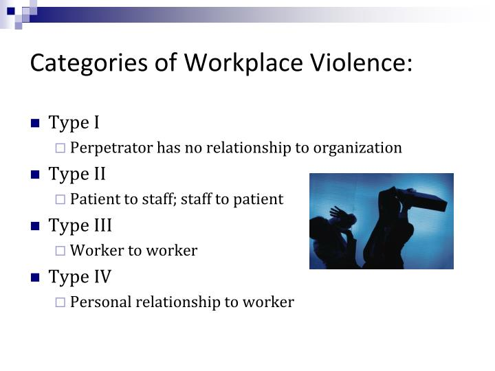 Categories of Workplace Violence: