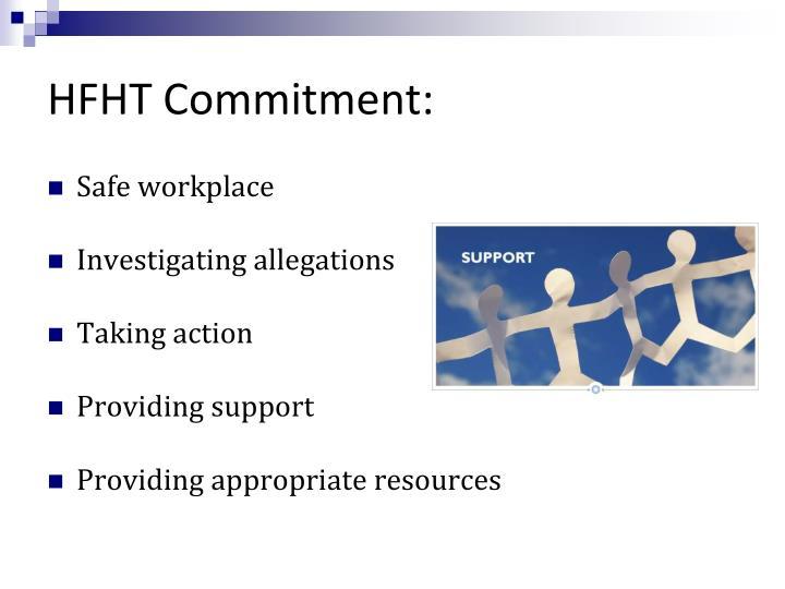HFHT Commitment: