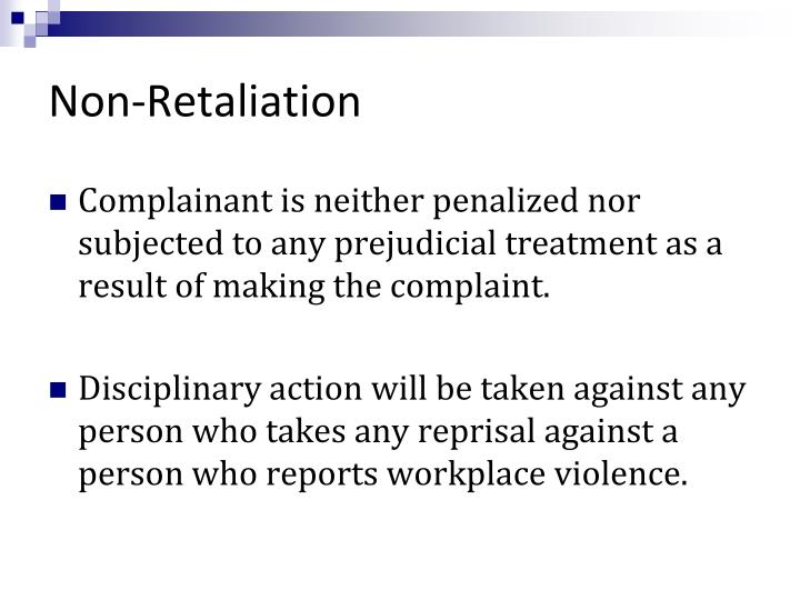 Non-Retaliation