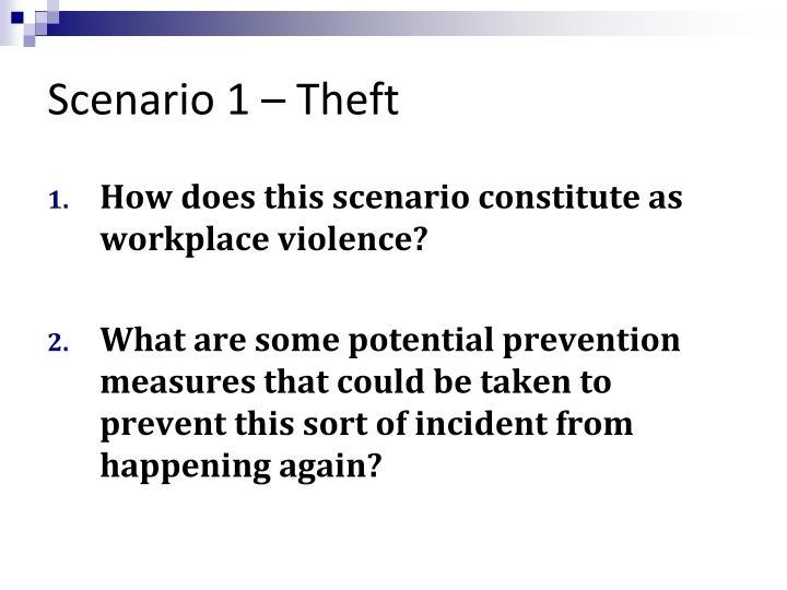 Scenario 1 theft1