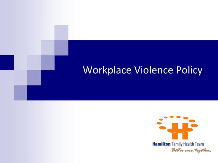 Workplace Violence Policy