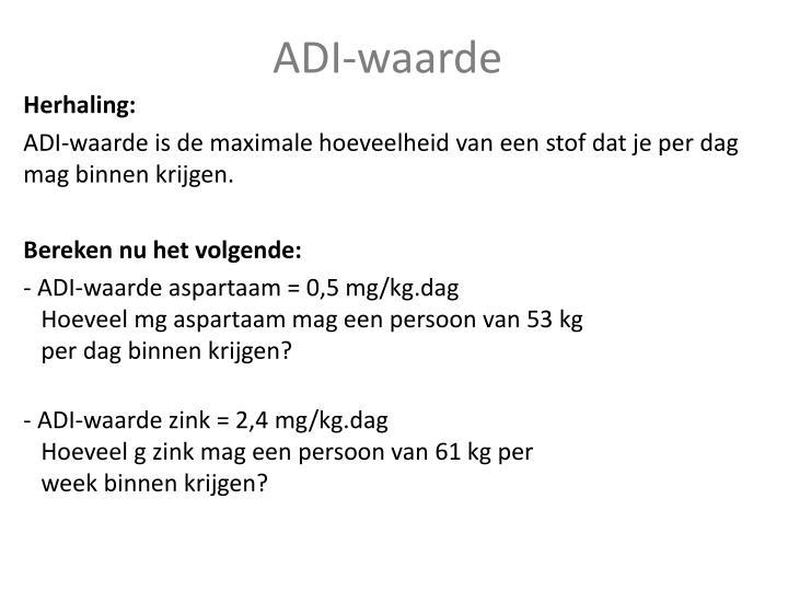 ADI-waarde