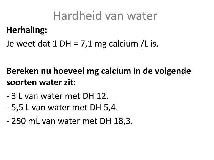 Hardheid van water