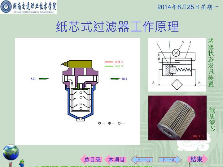 纸芯式过滤器工作原理
