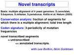 novel transcripts