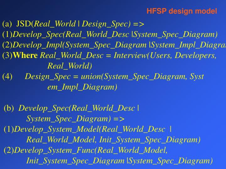 HFSP design model