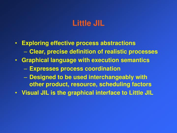 Little JIL