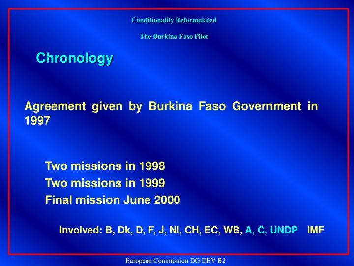 Conditionality reformulated the burkina faso pilot2