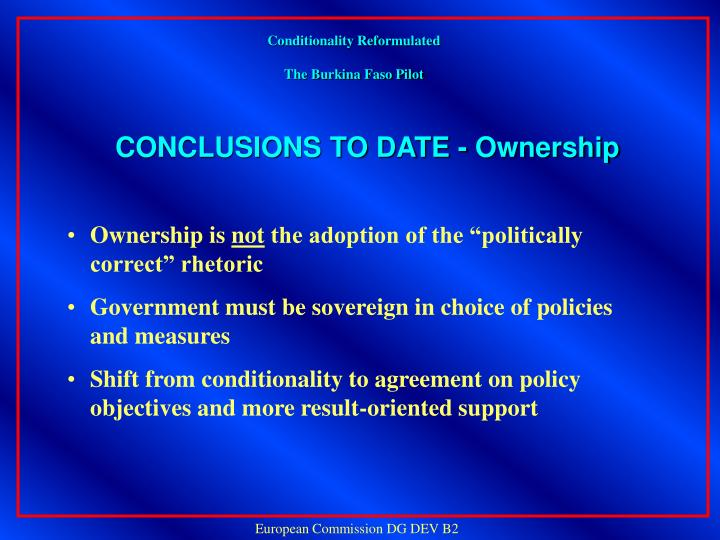Conditionality Reformulated