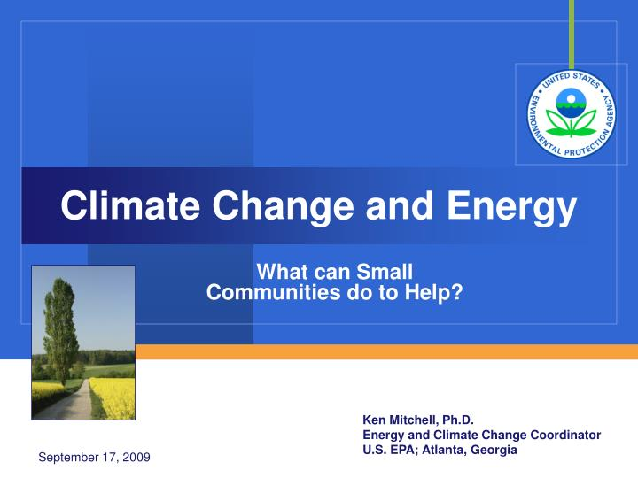 climate change and energy n.