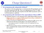 charge questions i