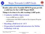 steps towards larp goals