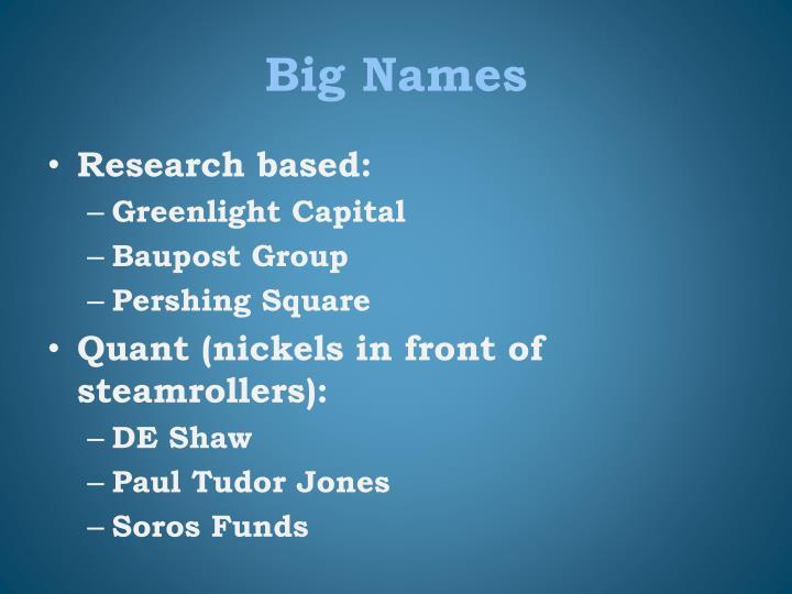 Big Names