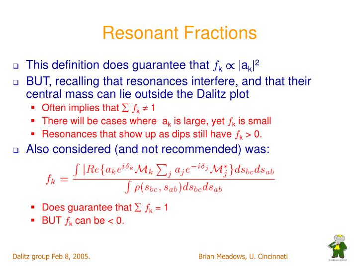 Resonant Fractions