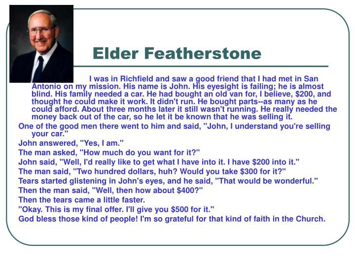 Elder Featherstone