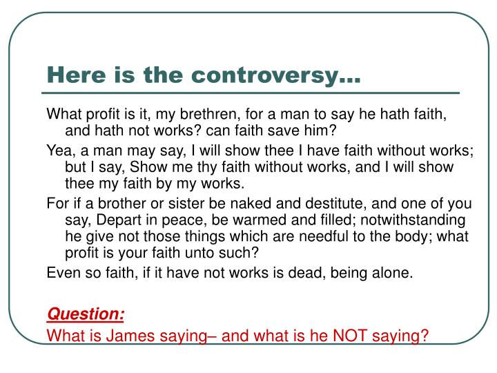 Here is the controversy…