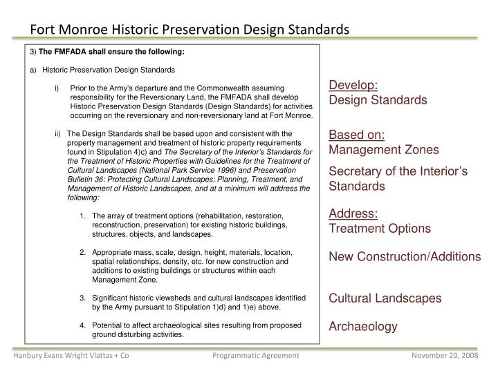 Fort monroe historic preservation design standards1