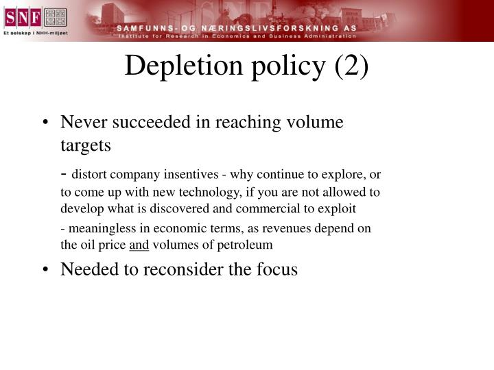 Depletion policy (2)