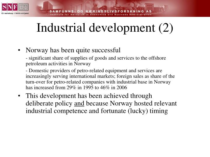 Industrial development (2)