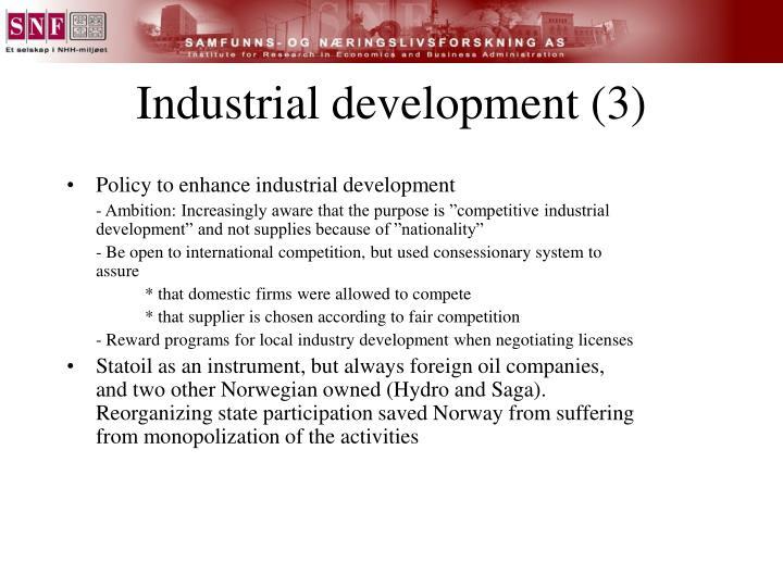 Industrial development (3)