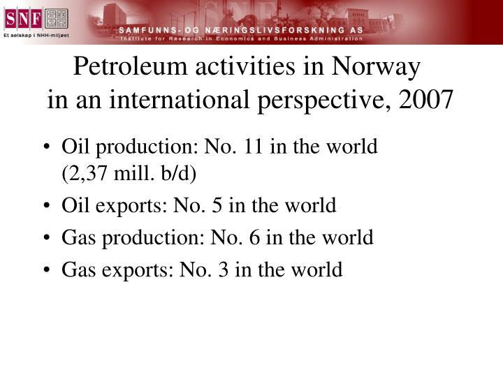 Petroleum activities in Norway