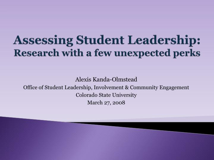 leadership assesment essay Leadership self-assessment leadership potential self-assessment the leadership potential assessment (lussier & achua, 2010, p 3) yielded a score of 31 where the range was from 0 to 35 0 representing low leadership potential and 35 representing the highest leadership potential.