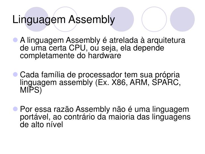Linguagem assembly1