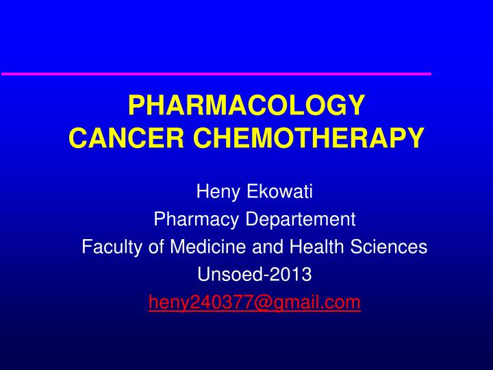Principles of chemotherapy |authorstream.