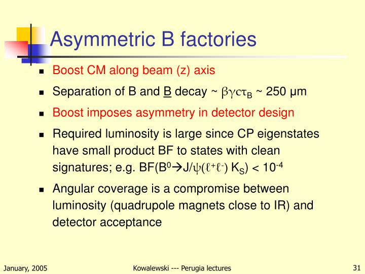 Asymmetric B factories