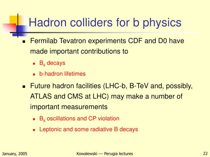 Hadron colliders for b physics