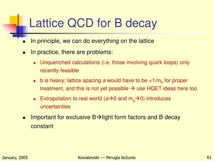 Lattice QCD for B decay