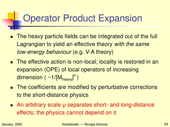 Operator Product Expansion