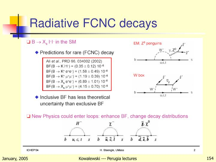 Radiative FCNC decays