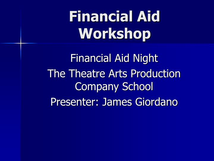 financial aid workshop n.