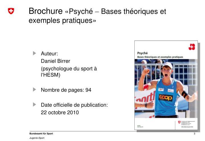 Brochure psych bases th oriques et exemples pratiques