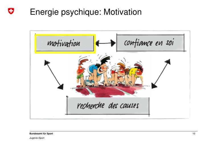 Energie psychique: Motivation