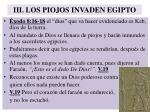 iii los piojos invaden egipto