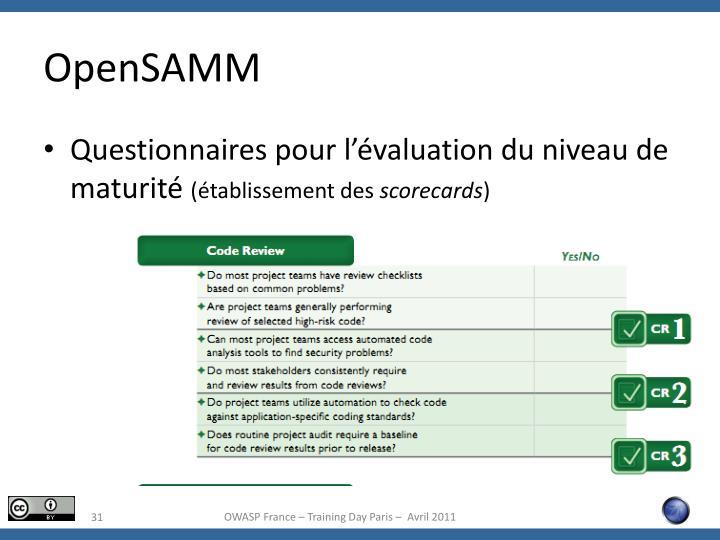 OpenSAMM