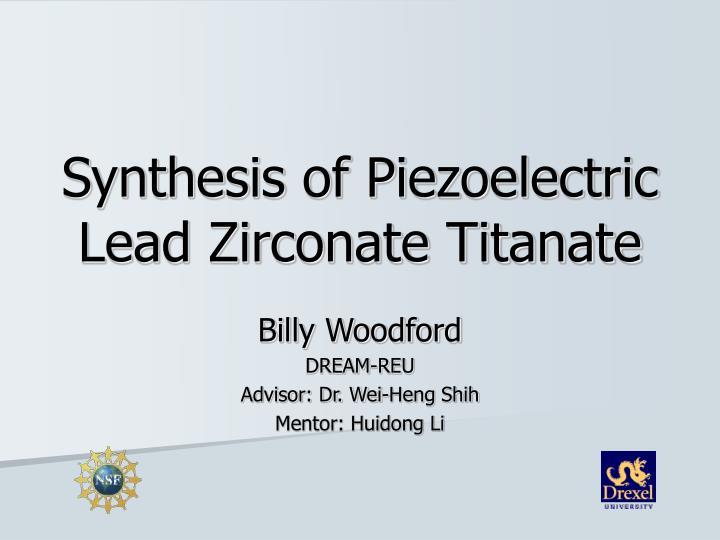 Synthesis of piezoelectric lead zirconate titanate
