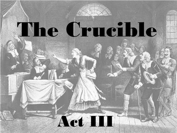 the crucible n.