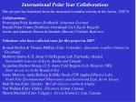 international polar year collaborations