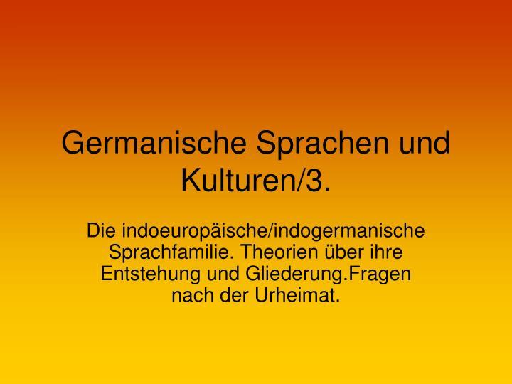 Germanische sprachen und kulturen 3