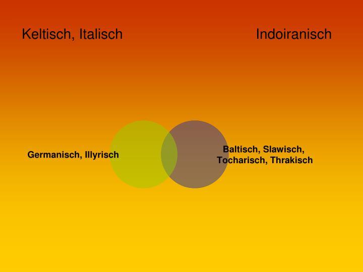 Keltisch, Italisch                                  Indoiranisch