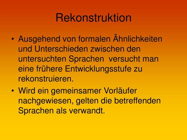 Rekonstruktion