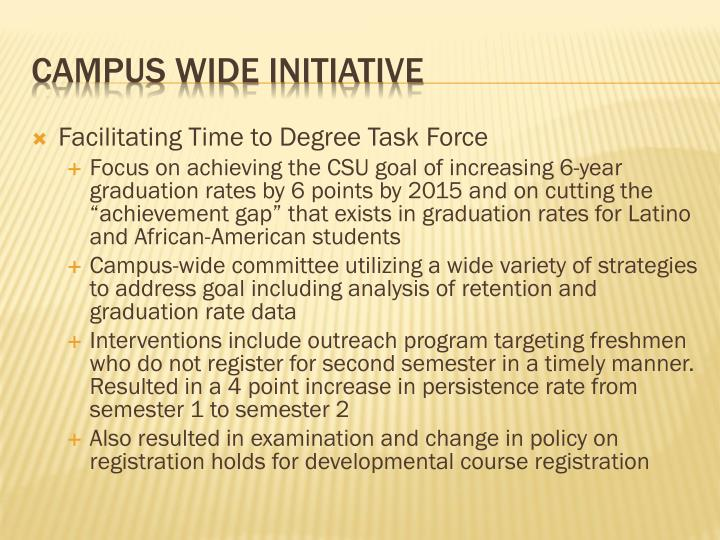 Facilitating Time to Degree Task Force