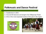 folkmusic and dance festival