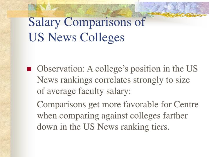 Salary Comparisons of