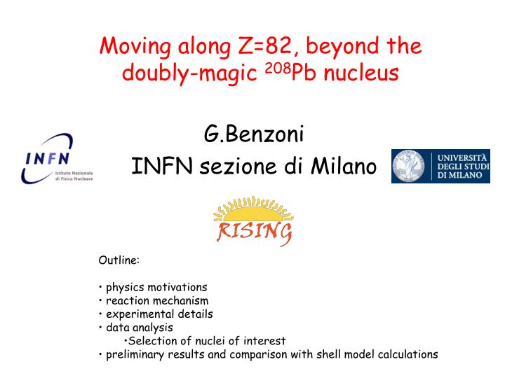 Moving along z 82 beyond the doubly magic 208 pb nucleus